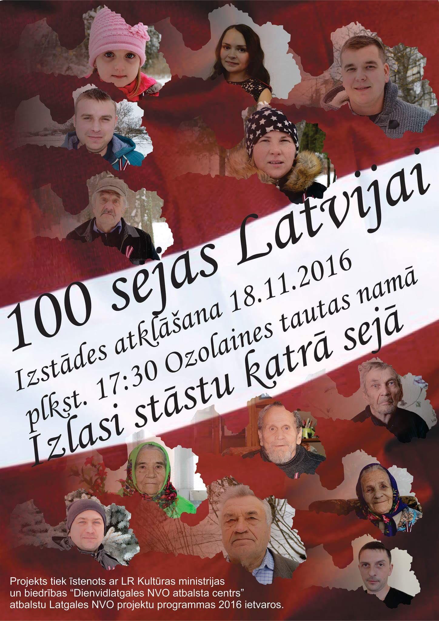Fotoizstādes 100 pagasta sejas